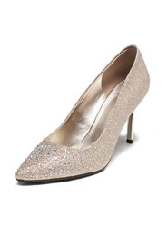 Daphne new pointed shallow mouth women's singles shoes wedding shoes shiny diamond high heels