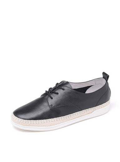 Daphne new casual shoes Oxford leather flat shoes