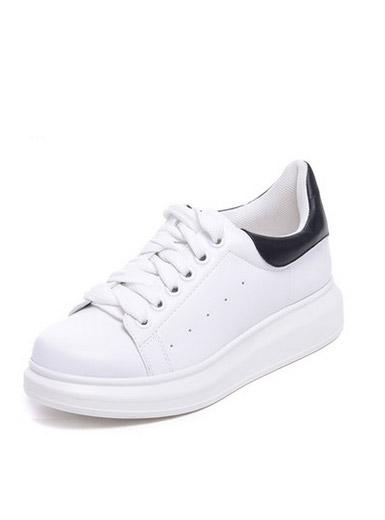 Daphne new round head inside the high PU shoes with deep casual shoes