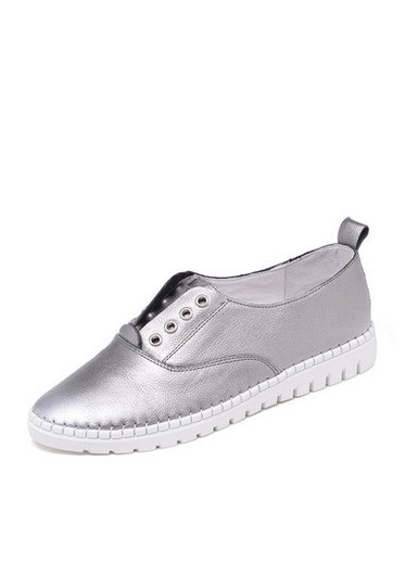 Daphne new flat leather with flat shoes in the mouth of casual shoes