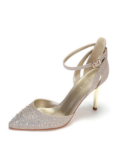Daphne spring and summer fashion rhinestone shoes elegant pointed word deduction fine with ultra-high-heeled sandals