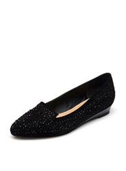 Daphne fashion diamond low-heeled shoes with comfortable breathable pointed slope with flat shoes