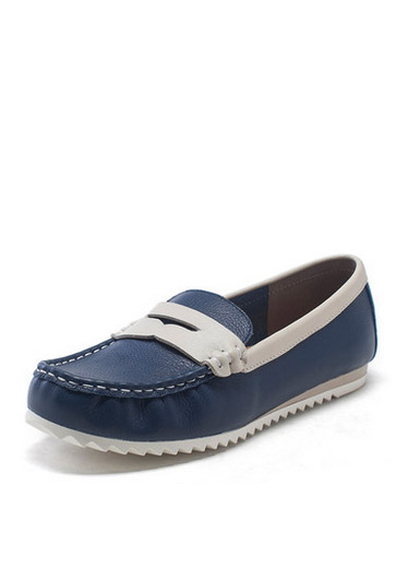 Daphne genuine anti-skid round flat shoes