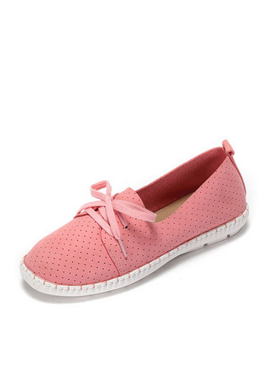 Daphne spring and summer new comfortable flat shoes casual round head with breathable sets of single-foot shoes