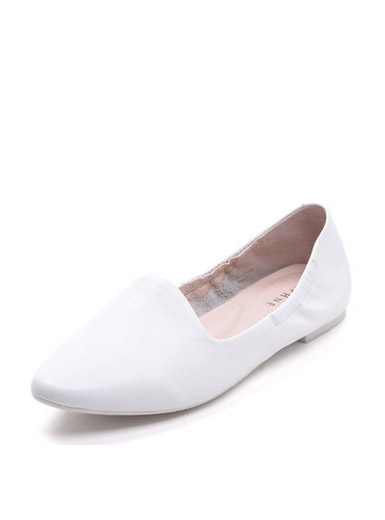 Daphne new low-heeled round leather flat-bottomed shoes