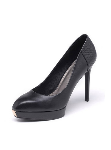 Daphne new pointed shallow mouth fashion leather high heels