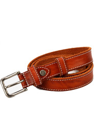 Thick line of steel buckle leather casual wild lady belt