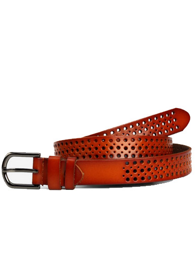 Hollow Hollow Cowhide Leisure Ladies Belt