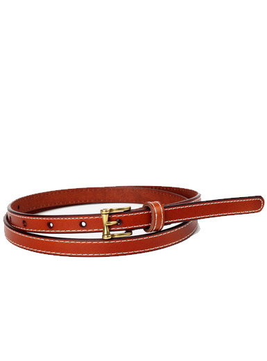 The bright side of the square copper button ladies fashion decorative thin belt
