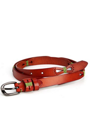 Pastoral tie leather ladies casual wild belt