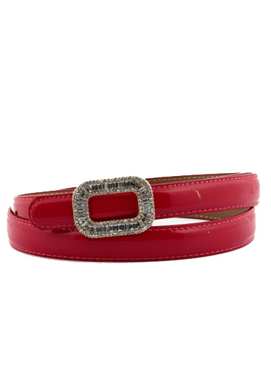Gorgeous rhinestone buckle casual buckle lady belt