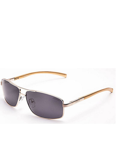 Men's new metal frame gorgeous polarized sunglasses