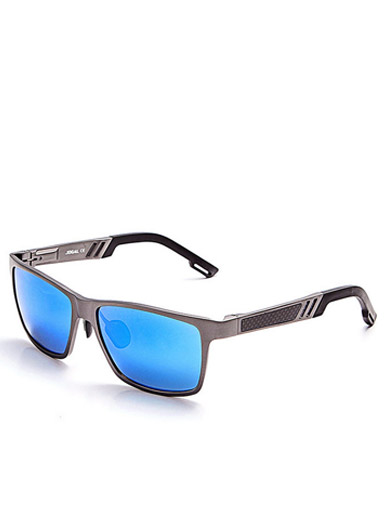 Men 's new stylish full frame aluminum - magnesium carbon fiber frame polarized sunglasses coated