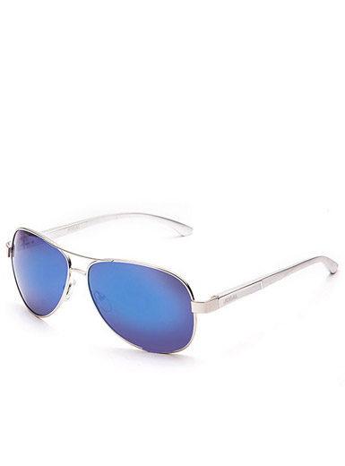 Classic men's metal mirror frame polarized sunglasses
