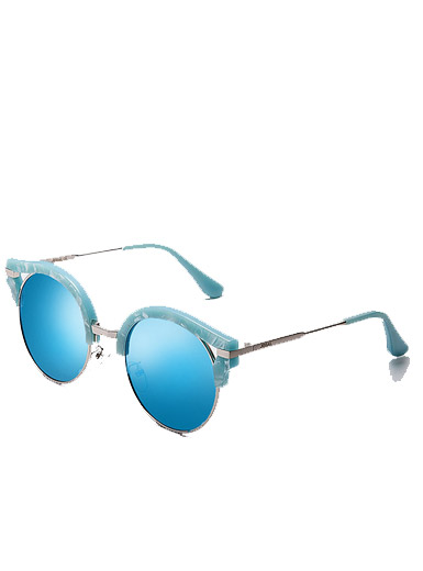 Universal Lady fashion new metal mirror frame trend polarized sunglasses