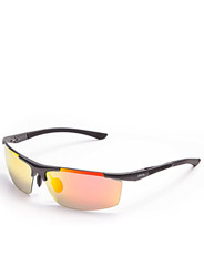 Men 's new aluminum - magnesium clip leisure sports color film polarized sunglasses