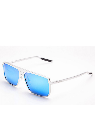 Men 's new personality full frame aluminum - magnesium frame polarized sunglasses frame