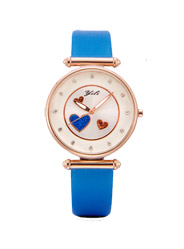 YILI simple ladies watch cute printed round dial alloy case