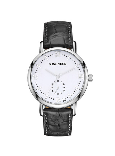 Kingnuos couple waterproof quartz retro belt fashion watch