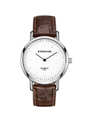 Simple fashion DW leisure men slim two-pin fashion strap D section watch